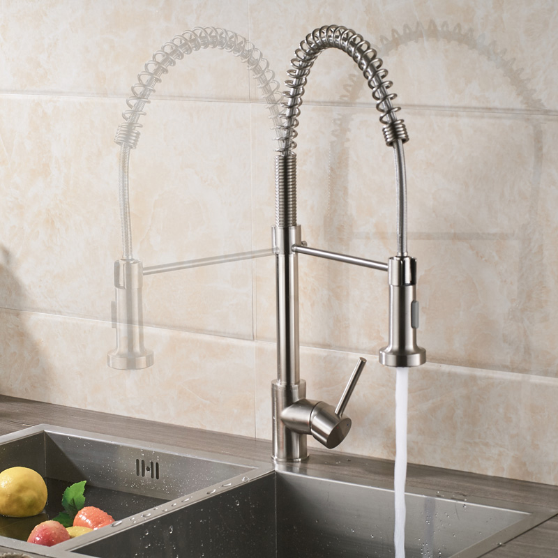 Brushed-Nickel-Kitchen-Faucet-Deck-Mounted-Mixer-Tap-360-Degree-Rotation-Stream-Sprayer-Nozzle-Kitchen-Sink-Hot-and-Cold-Taps-Pieces