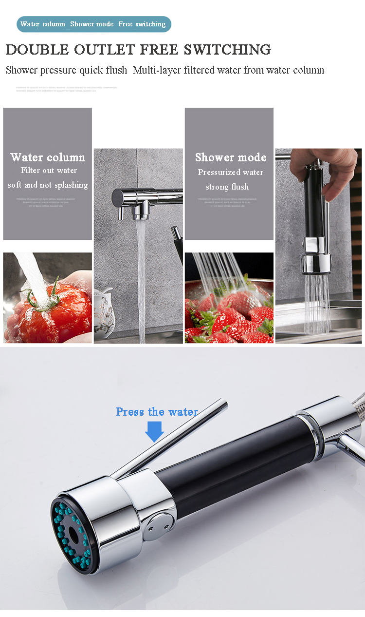 Chrome-Polished-Brass-Bar-Water-Tap-Sink-Mixer-Tap-Spray-Pull-Down-Kitchen-Faucet-89321