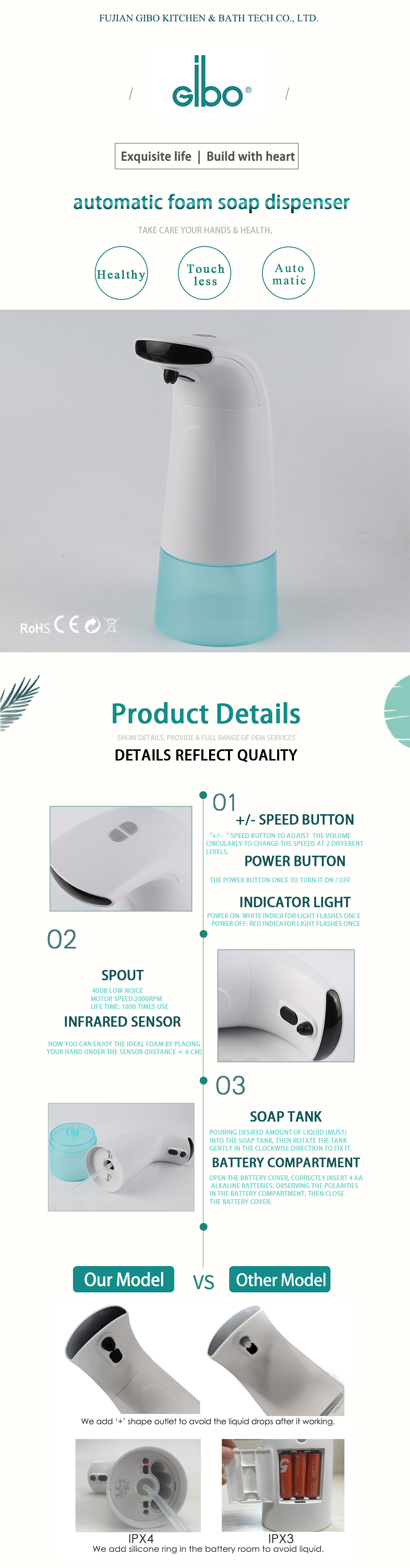 Electric-smart-auto-touchless-infrared-industrial-hospital-automatic-hands-free-sensor-stainless-steel-foam-soap-dispenser-Sets