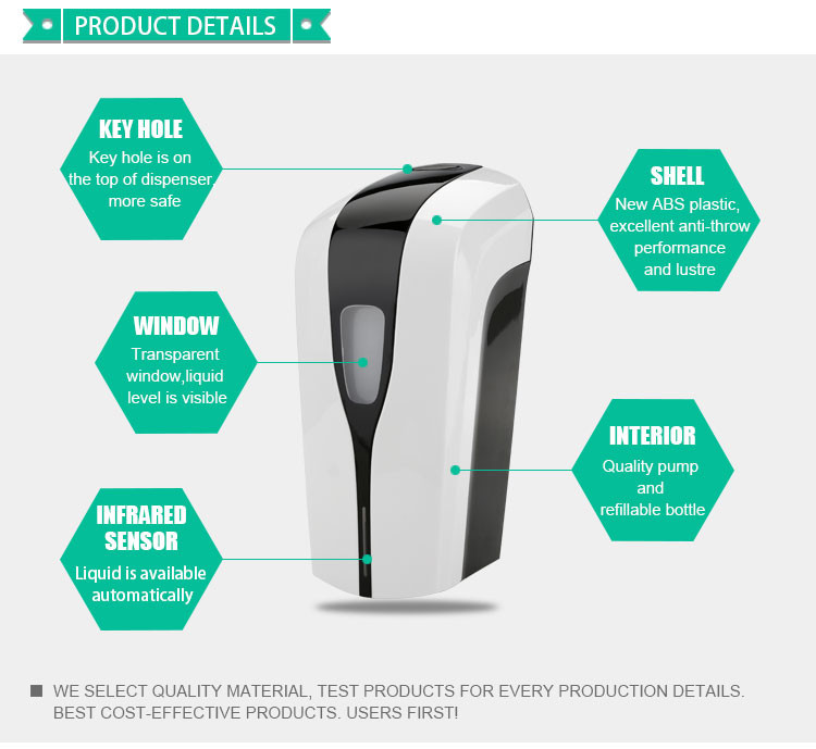 High-quality-1000ml-bathroom-automatic-hand-alcohol-sanitizer-dispenserauto-soap-dispenser-alcohol-spray-YK1808-alcoholsanitizerdispenserYK1808