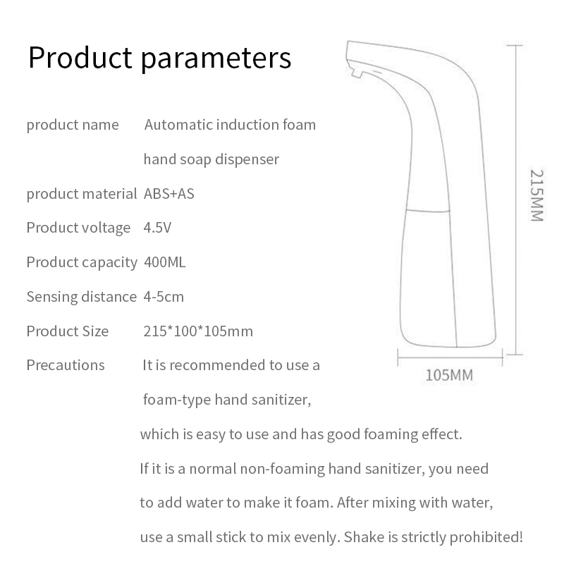 New-Design-Liquid-Soap-Dispenser-Automatic-Touchless-Foam-400ML-Soap-Dispenser-Hands-Free-Auto-Hand-Countertop-Soap-Dispenser-Pieces