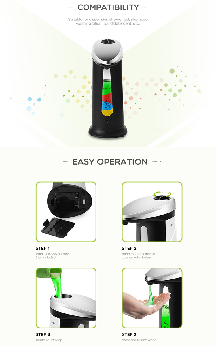 Plastic-hotel-touchless-hand-infrared-kids-foam-automatic-soap-dispenser-liquid-soap-dispenser-with-IR-Sensor-Pieces