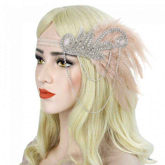 Headpiece Vintage Feather Headband