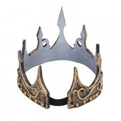 3D PU Foam Medieval Kings Crown Medieval Royal King Tiaras Crown Headwear Ancient Headdress Viking Corona Hombre King Dress Up