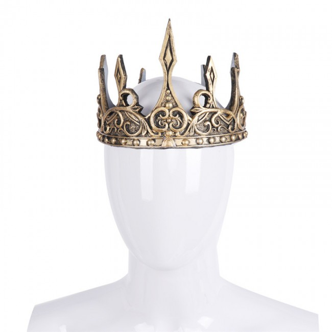 3D PU Foam Medieval Kings Crown Medieval Royal King Tiaras Crown Headwear Ancient Headdress Viking Corona Hombre King Dress Up