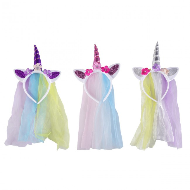 Cute Unicorn Headband Fashion Headdress Colorful Princess Head Hoop For Carnival Dance Party