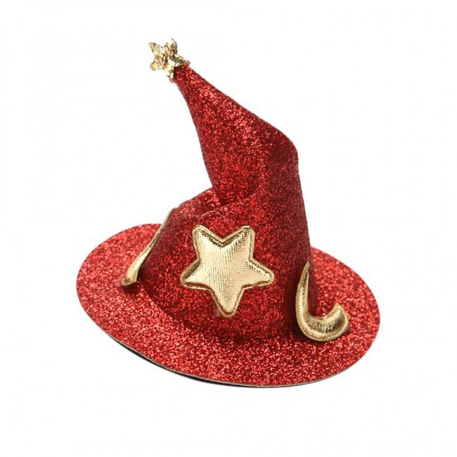 Halloween Children Hearwear Hairpin Witch Headdress Hat Decoration Card Issuance Ponytail Holder Hair Accessories Headwear