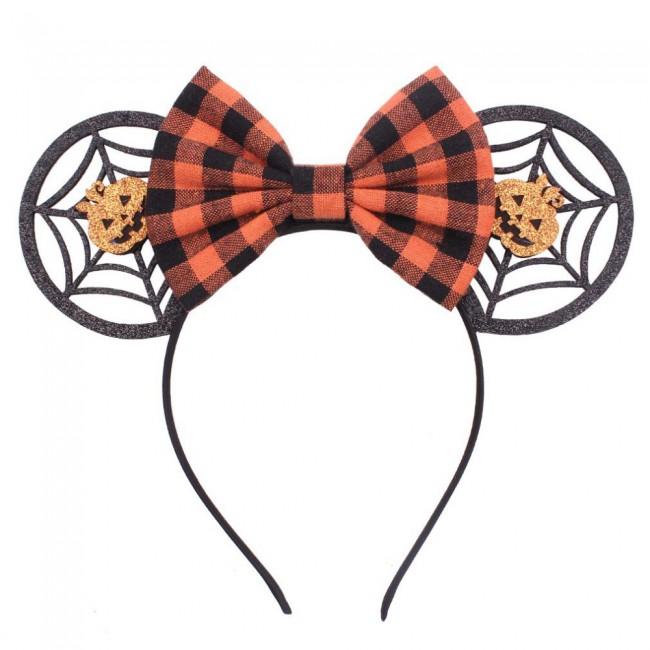 Disney Kawaii Girls Women Bows Headband Christmas Ears Hair-Accessories Kid Accessories Headdress Head Band Halloween Party