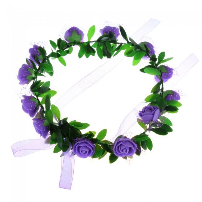 Boho Ladies flower crown headband Festival Wedding Garland Hair Head Band Beach Party Girl Crown Wedding Wreath Bridal Headdress