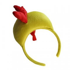 Animal Halloween Yellow Red 3D Chicken Headband Headdress Head Band Hoop Unisex Party Costume Decor Funny Lovely Accessories