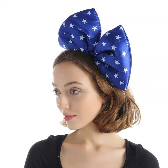 Fashion girl cute polka dot bow Hairhoop hot sale party gift headdress color bow headband