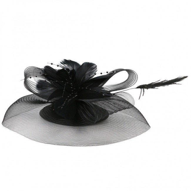 Accessory Feather Flower Pillbox Hat Hair Clip Headband Party Headdress New Fashion Design