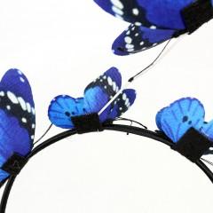 Wedding Hair Accessories Bridal Hair Ornaments Hair Bride Headdress Solid Butterfly Headband Cosplay Party Ladies Hair Band