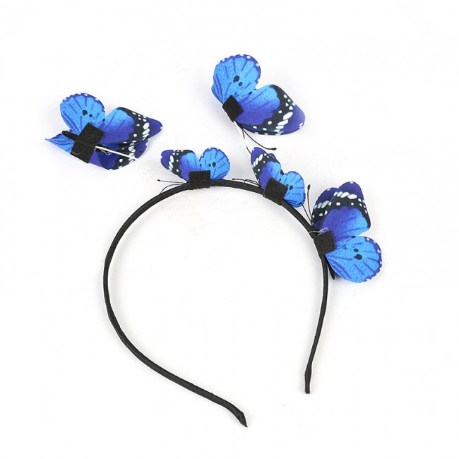 Wedding Hair Accessories Bridal Hair Ornaments Hair Bride Headdress Solid Butterfly Headband Cosplay Party Ladies Hair Band