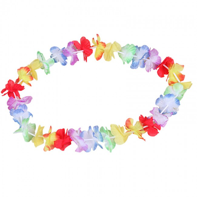 Hawaiian DIY Party Beach Flower Headwear Garland Necklace Party Hawaii Beach Fun Flowers Decoration Hair Accessories