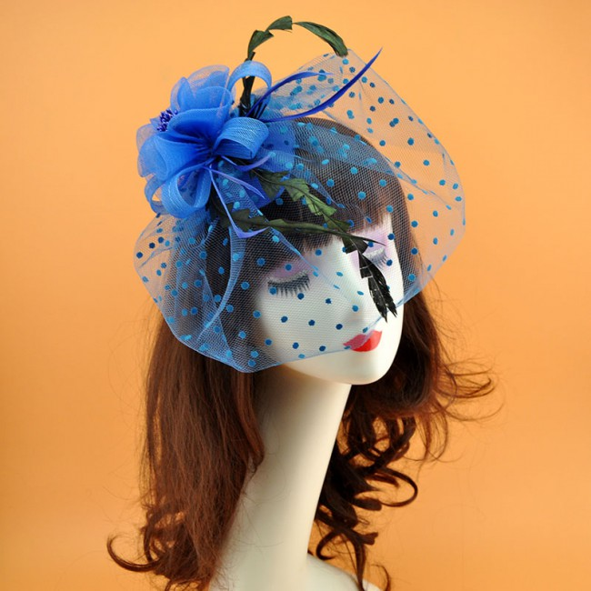 New arrival Fascinator Hat for Women Party Headband Wedding Cocktail Flowers Mesh Feathers Hair Clip Party Headwear for Girls