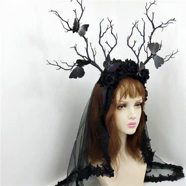 Gothic branch headdress headpiece halloween bough costume