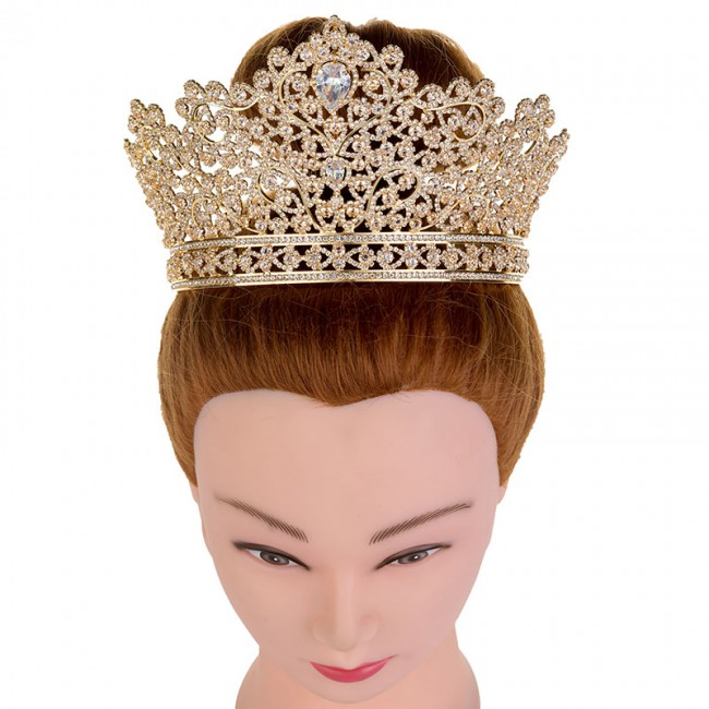 Luxury Princess Jewelry Tiaras and Crowns Headband New Love Bridal Big Wedding Hair Accessories Crown For Women