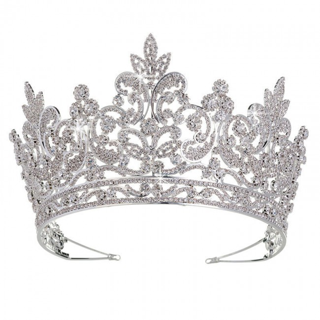 Luxury Bridal Tiara Big Queen Crown Wedding Hair Accessories Diadem Headband Pageant Ornaments Headdress Crowns
