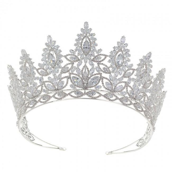 Luxury New Bride Bridesmaid Wedding tiaras and crowns Headband Shiny Cubic Zirconia Party Jewelry Crown