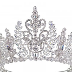 Top Quality Wedding Bridal Headband Jewelry Crown Flower Cubic Zirconia Tiara Girls Crowns
