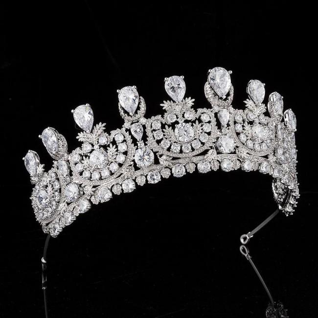 Tiara Crown Luxury Diadem Prom Pageant Engagement Headbands Bride Wedding Accessories Bridal Hair Jewelry