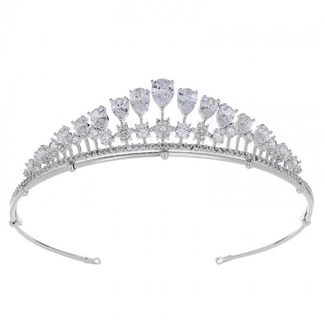 Attractive Ladies Portable Crowns Tiara For Wedding Zirconia Bridal Jewelry Tiaras