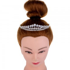 Attractive Ladies Portable Crowns Tiara For Wedding Zirconia Bridal Jewelry Tiaras