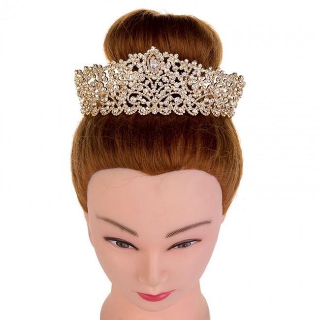 Big Wedding Bride Crown Elegant Hair Tiaras Bridal Jewelry Crowns Party Hair Accessories