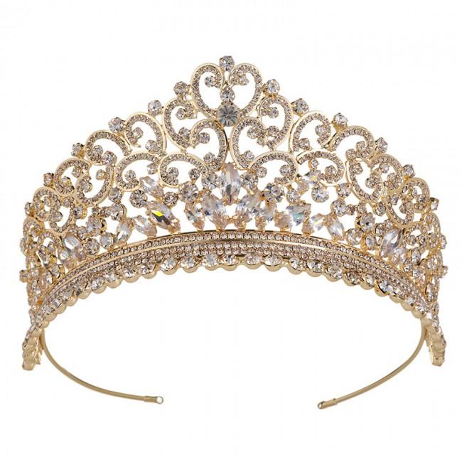 Attractive Women Princess Crown Headband Wholesale Tiara Hair Band Jewelry Crowns Fashion Bridal Accessories