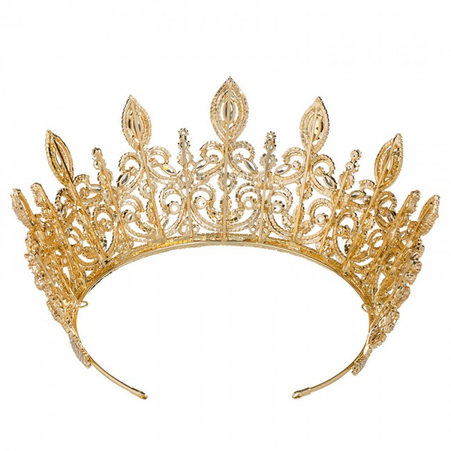 Luxury Bridal Hair Ornaments Crown Fashion Flower Style Women Tiara Wedding Engagement Jewelry Crowns