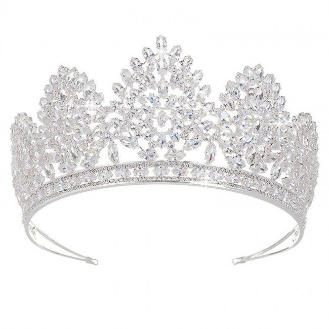 Luxury Large Crown Pageant Crowns for Women Bridal Tiaras Royal Prom Party Design Jewelry