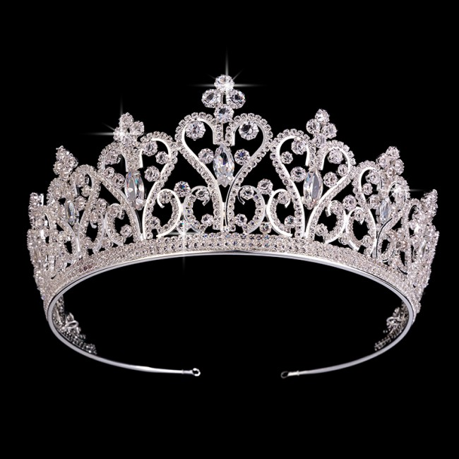 Tiara Elegant Princess Crown Diadem Bridal Wedding Hair Accessories Jewelry Party Gift
