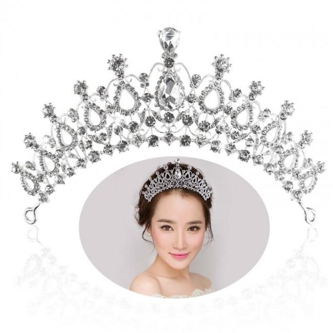 Bridal Tiara Crystal Rhinestones Tiara Crown Wedding Pageant Birthday Princess Tiara Headband