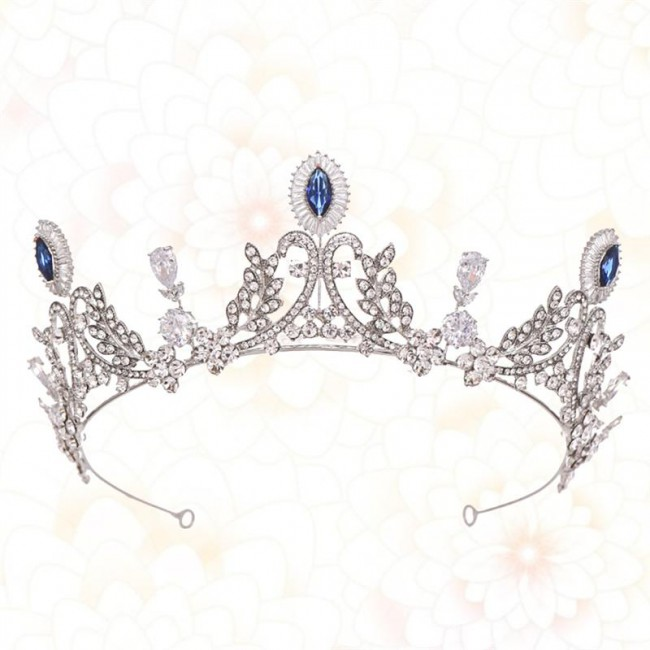 Bridal Crown Zircon Alloy Tiara Hair Hoop Headdress for Wedding