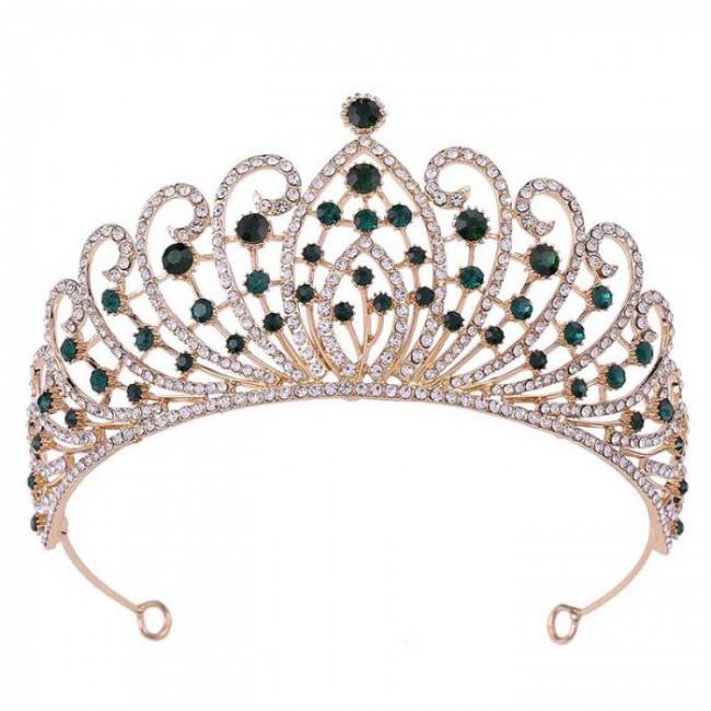 Vintage Baroque Rose Crystal Tiaras Crowns Princess Diadem Bridal Wedding Party