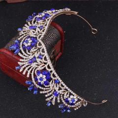 Rose Handmade Crystal Royal Princess Tiaras Crowns Diadem Bridal Bride Wedding Party Jewelry