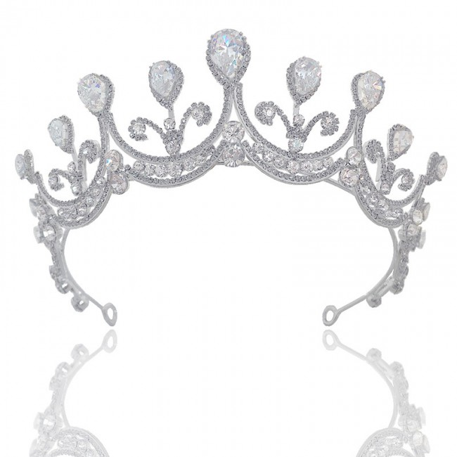 Shining Crystal Tiaras Crowns Headbands Women Girls Bride Wedding Party Hair Ornaments