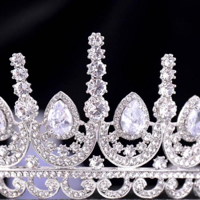 Rhinestone Big Crystal Tiaras Crowns Headband Jewelry for Girl Women Bridal Bride Wedding Headwear