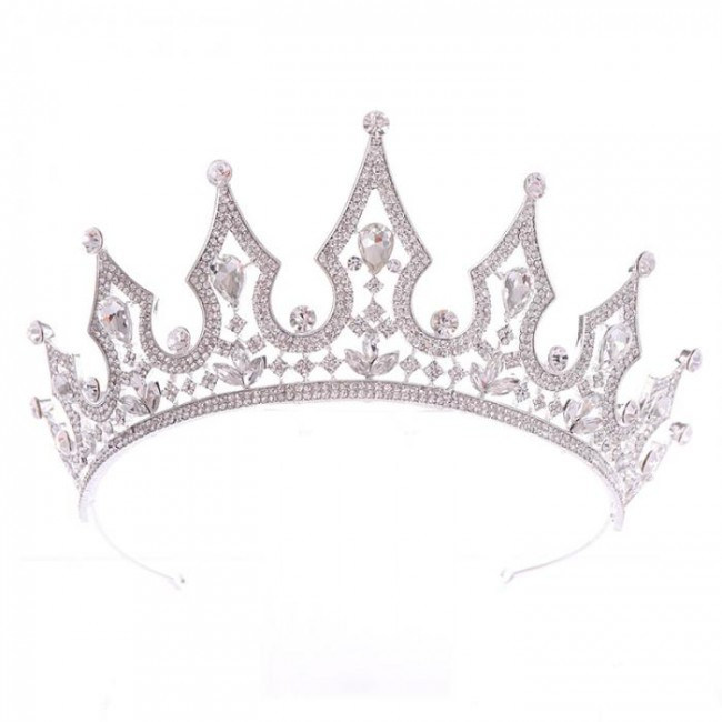 Rhinestones Crown Tiaras Bridal Bride Wedding Hair Jewelry Princess Women Birthday Party Headwear