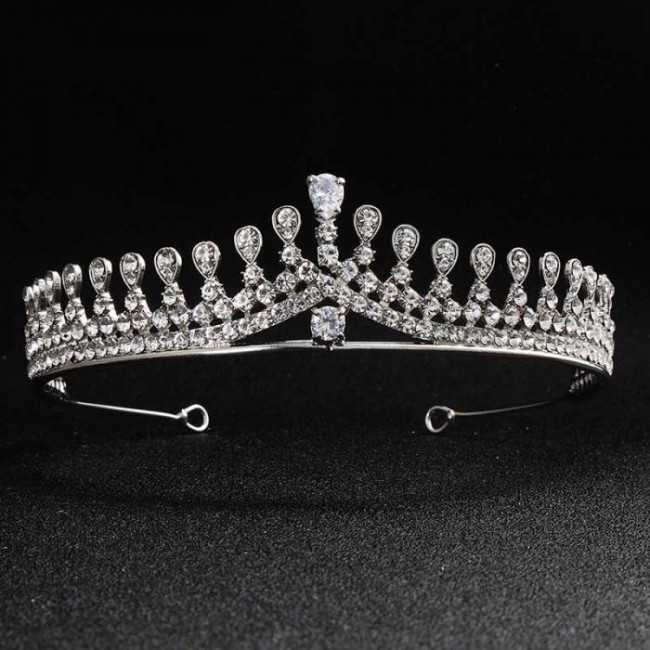 Fashion Shining Rhinestone Crystal Headbands Tiaras Crowns Bride Noiva Wedding Party Hair Jewelry Headpieces