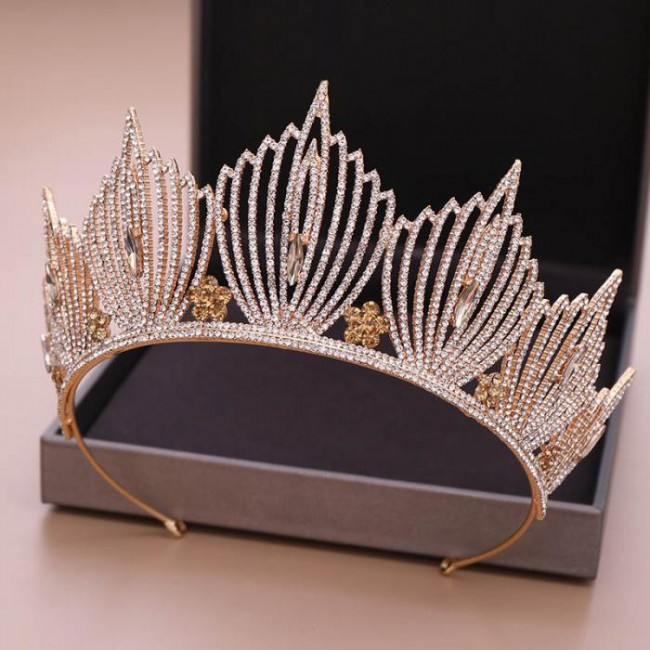 Fashion Rhinestone Tiara Crown Princess Bridal Bride Wedding Hair Jewelry Birthday Gift