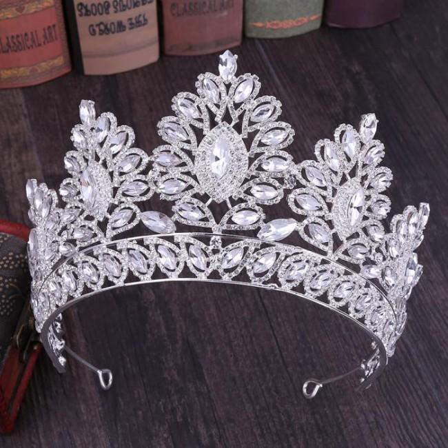 Fashion Design Baroque Exquisite Crystal Tiara Crown Women Bridal Bride Wedding Party Hair Jewelry Accessories