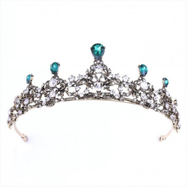 Fashion Water-drop Crystal Tiaras Crowns Royal Queen Princess Diadem Bride Bridal Wedding Party Hair Jewelry
