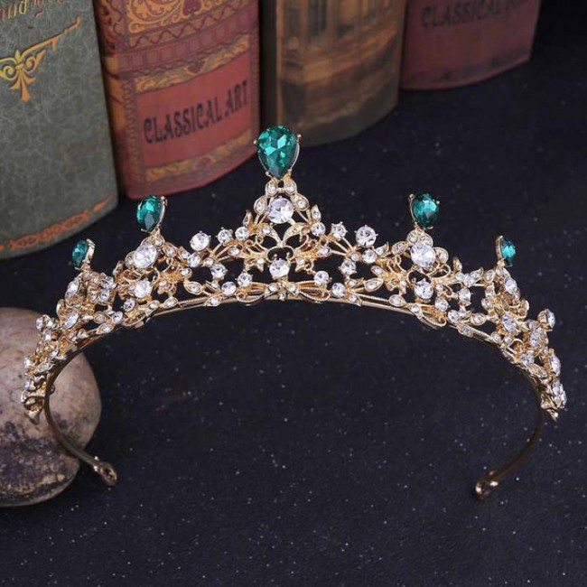 Fashion Water-drop Crystal Tiaras Crowns Royal Queen Princess Diadem Bride Bridal Wedding Party Hair Jewelry