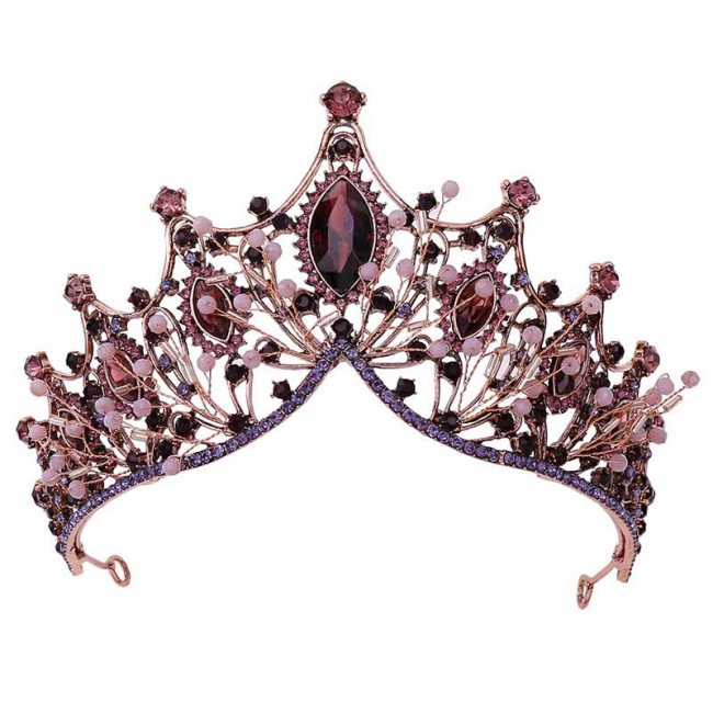 Bridal Wedding Hair Jewelry Accessories Retro Baroque Style Crystal Tiaras and Crowns Headbands