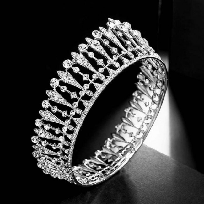 Shining Crystal Full Round Circle Tiaras Crowns Princess Diadem Bridal Bride Noiva Wedding Party Headbands