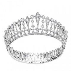 Shining Crystal Full Round Circle Tiaras Crowns Princess Diadem Bridal Bride Noiva Wedding Party Headbands
