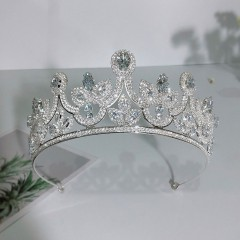Shining Rhinestones Crystal Tiaras Crowns for Women Hair Ornaments Bride Noiva Wedding Headband HairBands