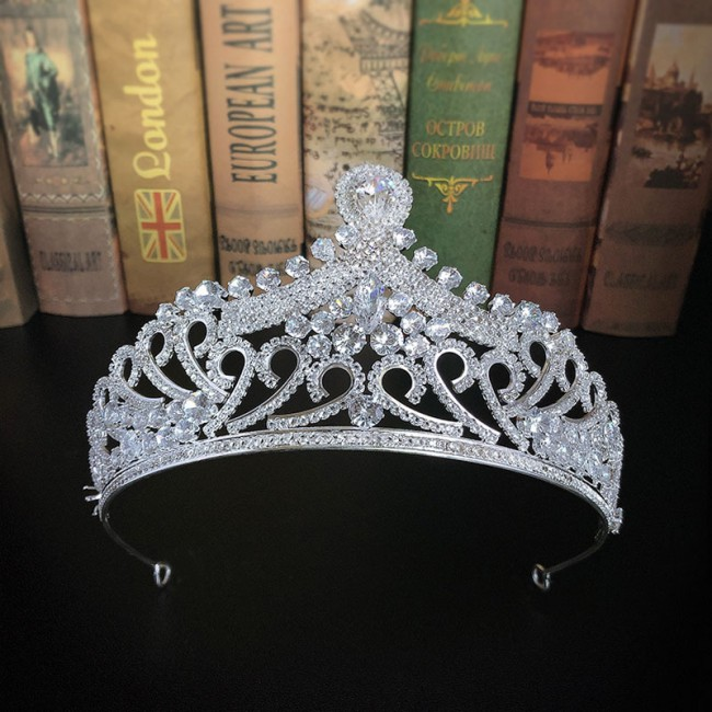 Bridal Wedding Hair Accessories Shining Rhinestone Royal Princess Diadem Tiaras Crowns Bride Decor Hair Jewellry